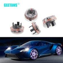 цена на 4PCS/lot Solar Energy Auto Flash Discoloration LED Car Decoration Wheel Tire Hub Auto Styling  waterproof Lamp&turn lights H