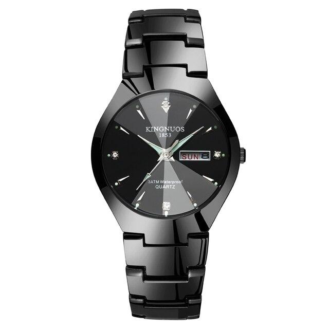 Relojes Para amantes Reloj de pulsera de cuarzo de lujo para hombres y mujeres Reloj de pareja de acero inoxidable Saat Reloj para Mujer Hombre