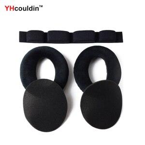 Image 1 - YHcouldin yastıkları Sennheiser HD600 HD 600 HD650 HD 650 kulak yastıkları yedek kulak pedleri kulaklık kulak yastıkları bardak