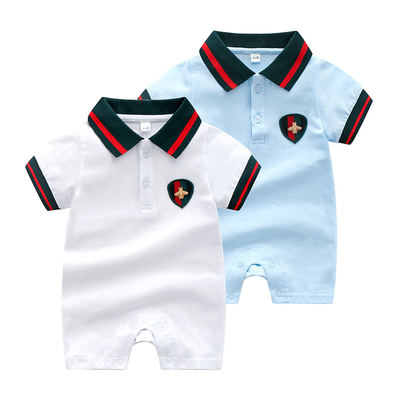 High Quality Baby Boys Rompers Jumpsuits Newborn Baby Casual Clothes Infant Boys Clothing Set Summer Baby Short Sleeve Jumpsuits