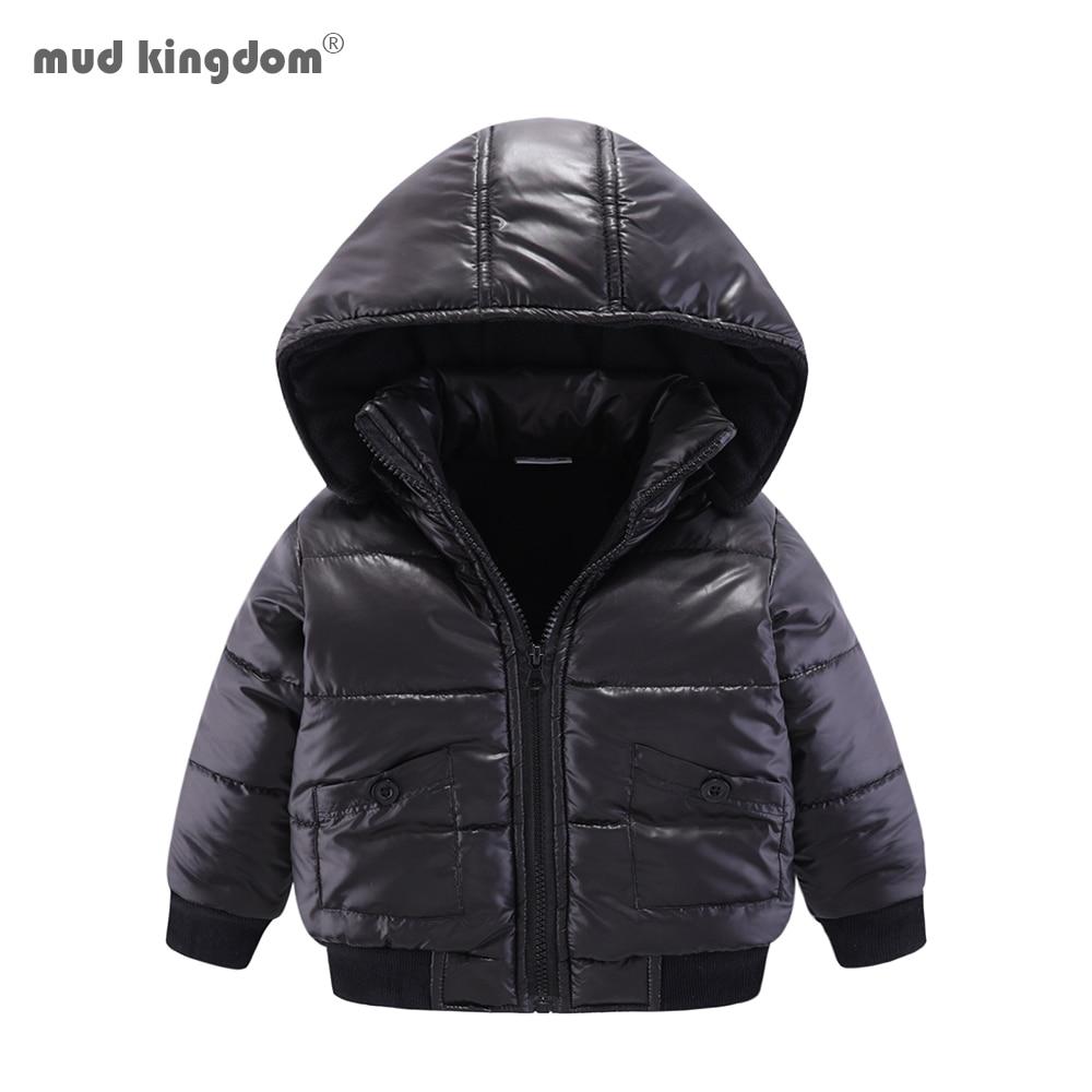 Mudkingdom Baby Boys Winter Jacket Solid Hooded Detachable Windproof Kids Warm Cotton Padded Coat 1