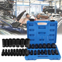 16Pcs 1/2 Inch Drive Air Hex Bit Socket Set Pneumatic Socket Kit Repairing Tool Kit Sleeve Special Export Type Pneumatic Sleeve