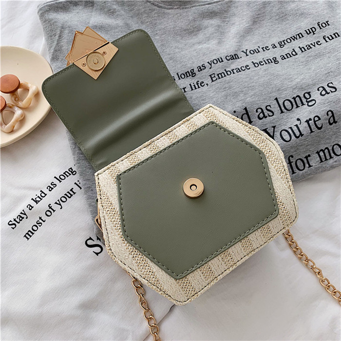 H0beb575390a740179155d617b5af6ed0n - Handbag Women Summer Rattan Bag Hexagon Mulit Style Straw+leather Handmade Woven Beach Circle Bohemia Shoulder Bag New Fashion