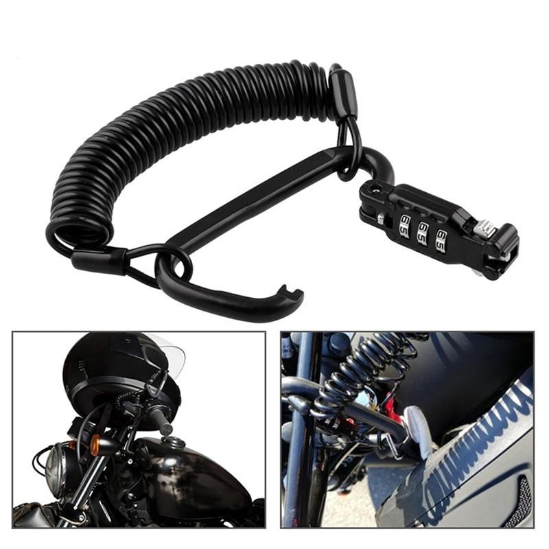 Motorcycle Helmet Lock & Tough Combination PIN Locking Carabiner Device Motorbike Bike Helmet Lock Car-Styling Hanging Hook
