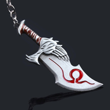 Game God of War Kratos Chaos Blade Keychain Pendant keyring jewelry men and women car key chain Accessories