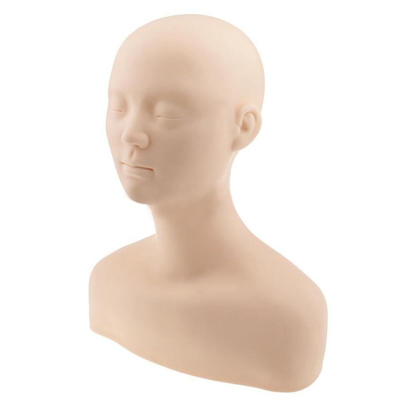 Soft Acupuncture Point Practice Massage Mannequin Head Dummy Head Practice Beauty Massage Make-up Training Head