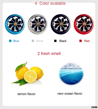 car auto Perfume Air Freshener Mini Fan Auto Air Vent Clip for Ford Focus MK2 MK3 MK4 kuga Escape Fiesta Ecosport Mondeo Fusion image