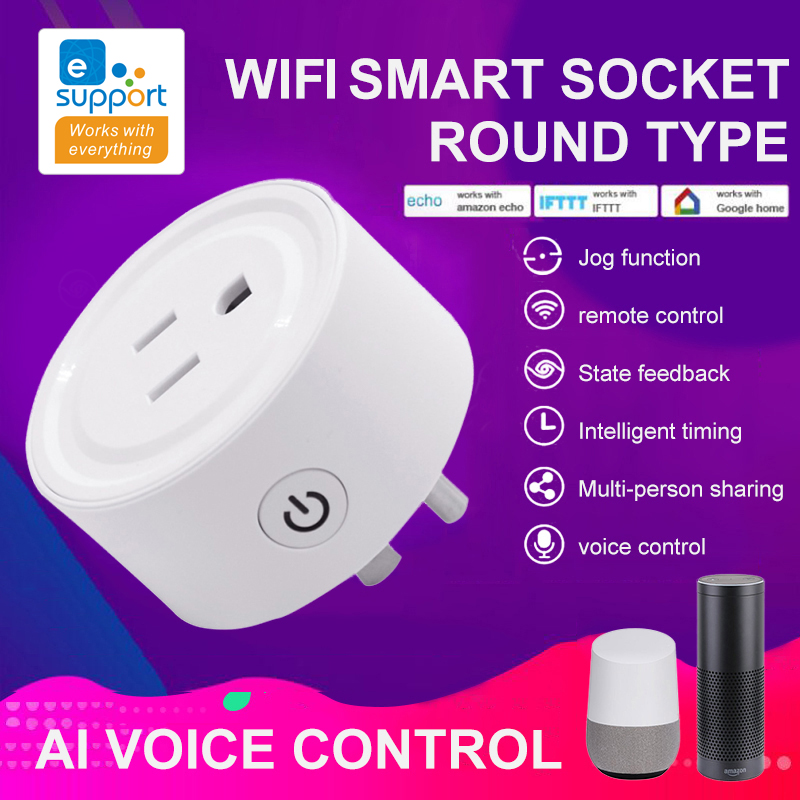 Mini WiFi Smart Socket Wireless Remote Control Timer Switch EWeLink APP For Mobile Phone Smart Home Accessories Device(UK/US)
