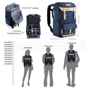 Image 4 - K & F KONZEPT Große Kapazität Multi funktionale Wasserdichte Kamera Rucksack Reisetasche Mit Brust Gürtel Halten SLR Stativ