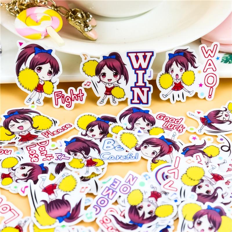 42pcs Creative Kawaii Japanese Cheerleading  Girls Scrapbooking Stickers /decorative Sticker /DIY Craft Photo Albums/Children