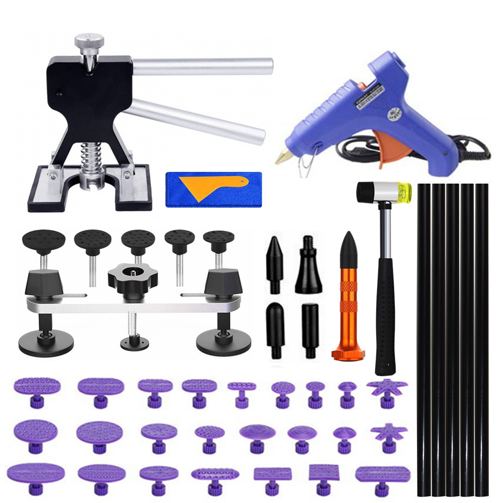 PDR Auto Body Paintless Dent Removal Tools Kit Dent Lifter Bridge Puller Set For Car Hail Damage And Door Dings Repair(China)