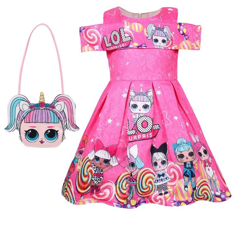 Girl Dress Kids Dresses For Girls Princess Baby Girl Doll Clothes Summer Sleeveless Dress Kids Clothes Thanksgiving Lol Dress