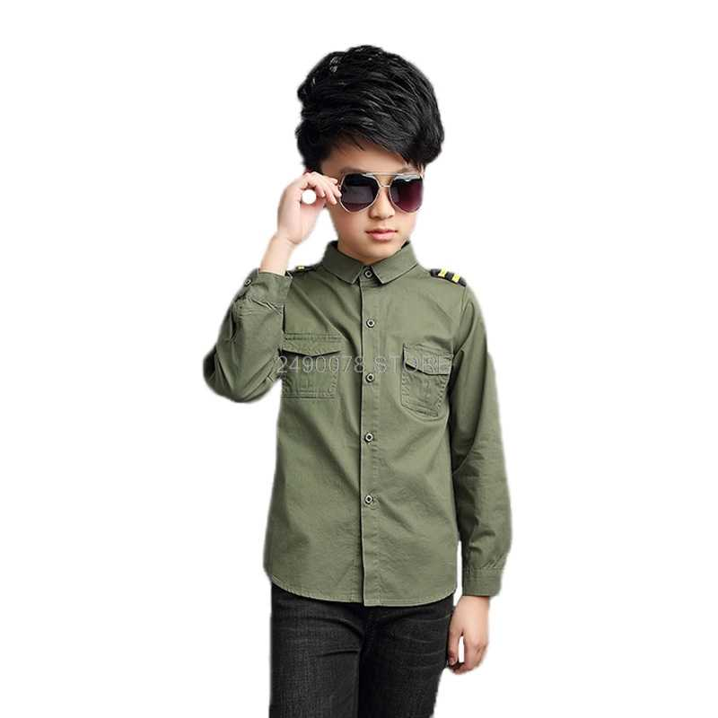 Teenage Boys Shirts School Shirt for Boys Turn Down Collar Shirt For Boys Kids White Dress Shirt Teen Clothes 6 8 10 12 14 Year