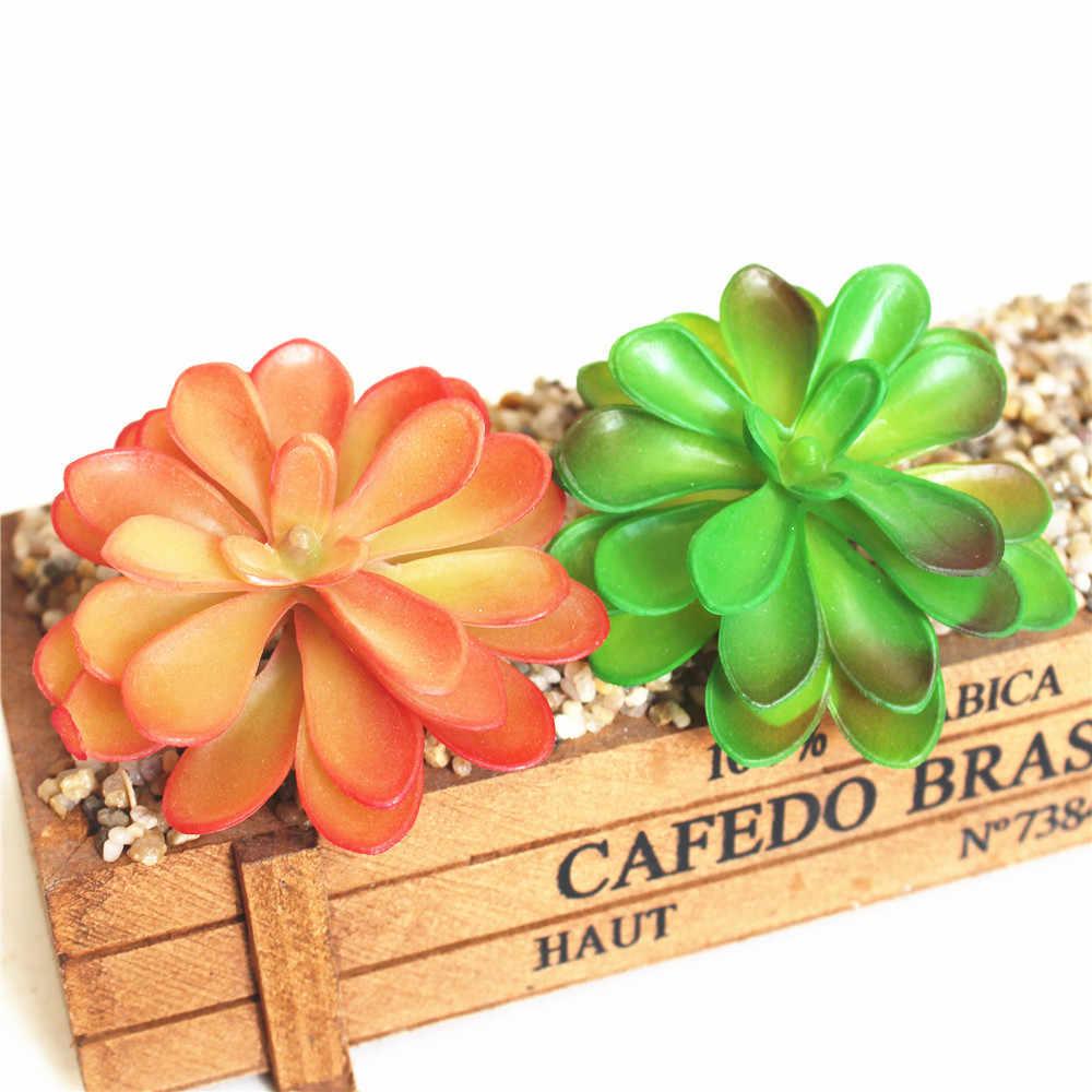 Symulacja soczyste połączony z kwiat Pauline sztuczne sukulenty rośliny ogrodowe akcesoria do dekoracji sztuczne rośliny
