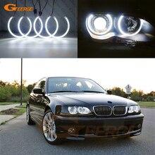 Ultra brillante SMD LED Ojos de Ángel anillos de halo de luz de día estilo de coche para BMW Serie 3 E46 sedán gira Wagon 1998 2005