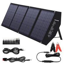 Suaoki 80w painéis solares portátil dobrável impermeável dupla 5v/2.4a usb carregador de painel solar power bank para bateria do telefone