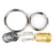 100 петель Doreen Box, бусина с памятью, стальная проволока, золотой и серебряный цвет, для самостоятельного изготовления ожерелий, браслетов, юве...