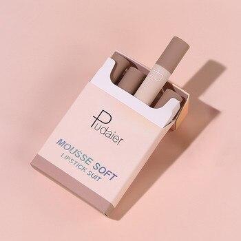 Conjuntos de lápiz labial para mujer, 4 colores de terciopelo mate largo,...