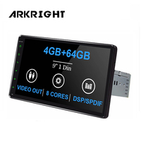 ARKRIGHT 9'' 4 GB 64 GB car multimedia player 1 din car head unit Android 8.1 car stereo GPS Navi Video Output 4G IPS Carplay