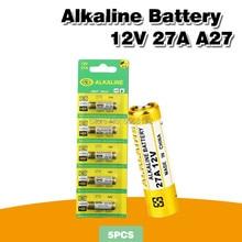 5PCS Nova Dry 27A 12V A27 Bateria Alcalina Para Campainha de alarme de Carro de controle Remoto G27A MN27 MS27 GP27A L828 V27GA ALK27A A27BP