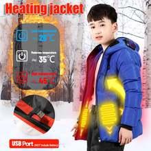 Детские куртки с электроподогревом хлопковое пальто для улицы