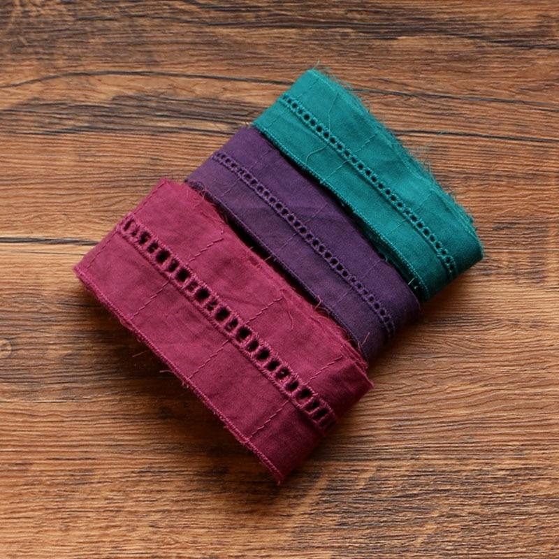 Цветная хлопковая кружевная ткань, венецианская кружевная отделка для одежды, вышивка, технология шитья, 2 ярда