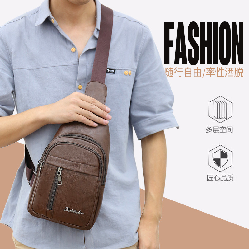 New Style Chest Pack Men Bag Cool Style Men's Bag Shoulder Bag Shoulder Bag Small Treasure Wallet Backpack