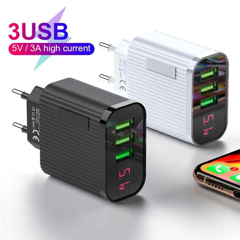 18W USB Charger Ponsel Charger Cepat 3.0 untuk Samsung Iphone 7 8 Huawei P20 Tablet Cepat Charger Dinding adaptor Steker Uni Eropa