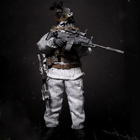 1/6 30cm Soldier Model Suit Realistic Headsculpt DIY Handmade Soldier Navy Seals Winter Combat Training Action & Toy Figures