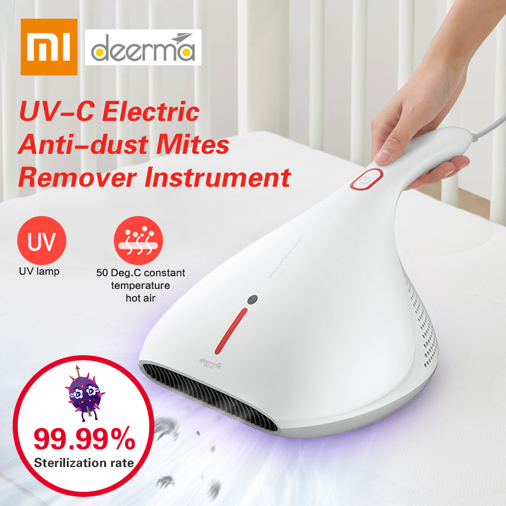 Xiaomi Deerma 13 KPa Handheld Electric Anti-dust Mites Remover Instrument UV-C Vacuum Cleaner Strong Suction Cleaning Machine