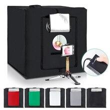 40cm Portable Desktop Photo Studio LED Lamp Panel Softer Box Adjustable Folding Multiple Openings With Tripod 16