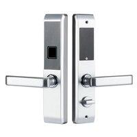 Biometric Electronic Door Lock Smart Fingerprint Lock Code Card Key Touch Screen Digital Password Wireless Lock for home NEW|Electric Lock| |  -