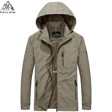 PEILOW new plus size M~6XL Spring Autumn Mens Casual military Hoodie Jacket Men Waterproof Clothes Mens Windbreaker Coat Male