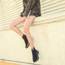 Top Knitting Chunky Platform Sneakers breathable PU27