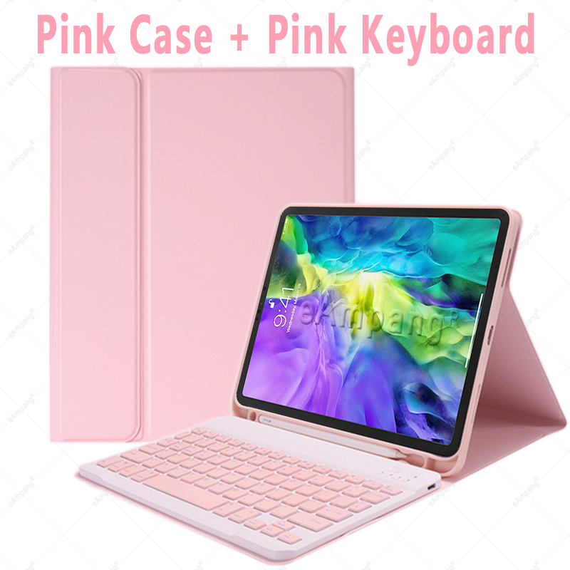 Pink no Mouse White For iPad Air4 10 9 2020 A2324 A2072 Keyboard Mouse Case English Russian Spanish Korean Keyboard