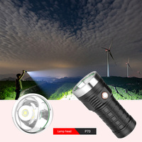 USB Rechargeable P70 LED Electric Torches 5 Modes 2000LM Flashlights Portable Waterproof Torch for Outdoor Nocturnal Travel