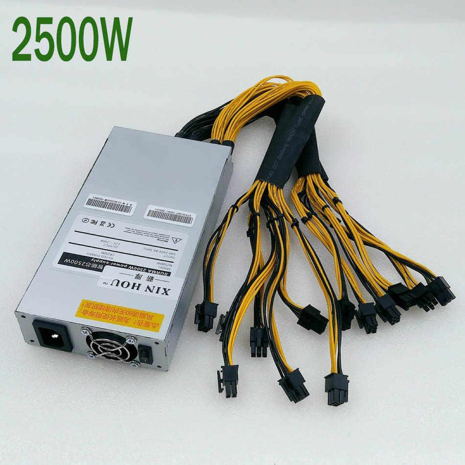ZEC BTC LTC BCH minero fuente de alimentación 2500W PSU para Antminer S9 S9j S9k L3 Z9 Z11 Z11e B7 Z1 + A9 Ebit E9i E10.2 E110.3 E9.3 ETH PSU