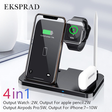 Wireless Charger 4 in 1 10W Fast Charging for iPhone 11 11pro XS XR Xs Max 8Plus for Apple Watch 5 4 3 2 Airpods Pro Pencil Pad