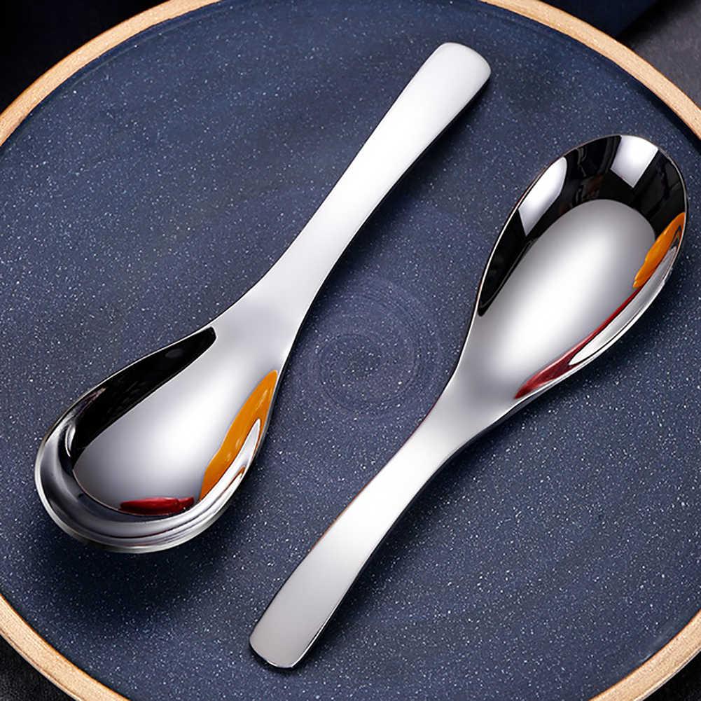 נירוסטה כף נוח ידית מרק קפה דבש כפית כלי שולחן מטבח כלים