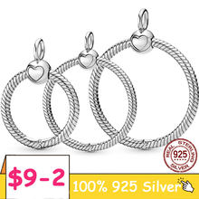 HOT Sale O Pendant 925 Sterling Silver O Pendant fit Original Pandora Necklace DIY Charm Beads Jewelry Gift