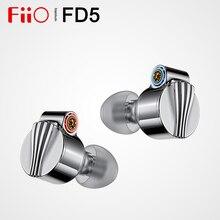 Fiio fd5バイリウムコーティングされた動的インイヤーモニタリングイヤホン、2.5/3.5/4.4mm交換可能なサウンドチューブとmmcxオーディオジャック