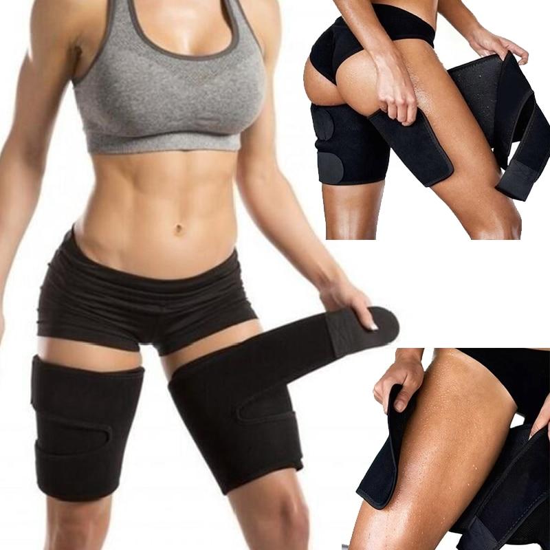 Men Woman Leg Shaper Sauna Sweat Thigh Calories Off Warmer Slender Slimming Wraps Legs Fat Thermo Neoprene Compress Massage Belt