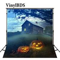 Vinylbds backdrops para fotografia abóbora fantasma casa assombrada gramado halloween background fundos Wsj-041