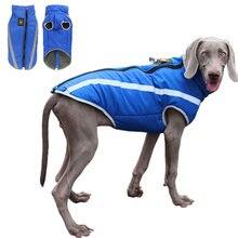 Inverno quente roupas para cães à prova dwaterproof água pet acolchoado colete com zíper casaco para pequeno médio grande cão cachorro traje ropa para perros
