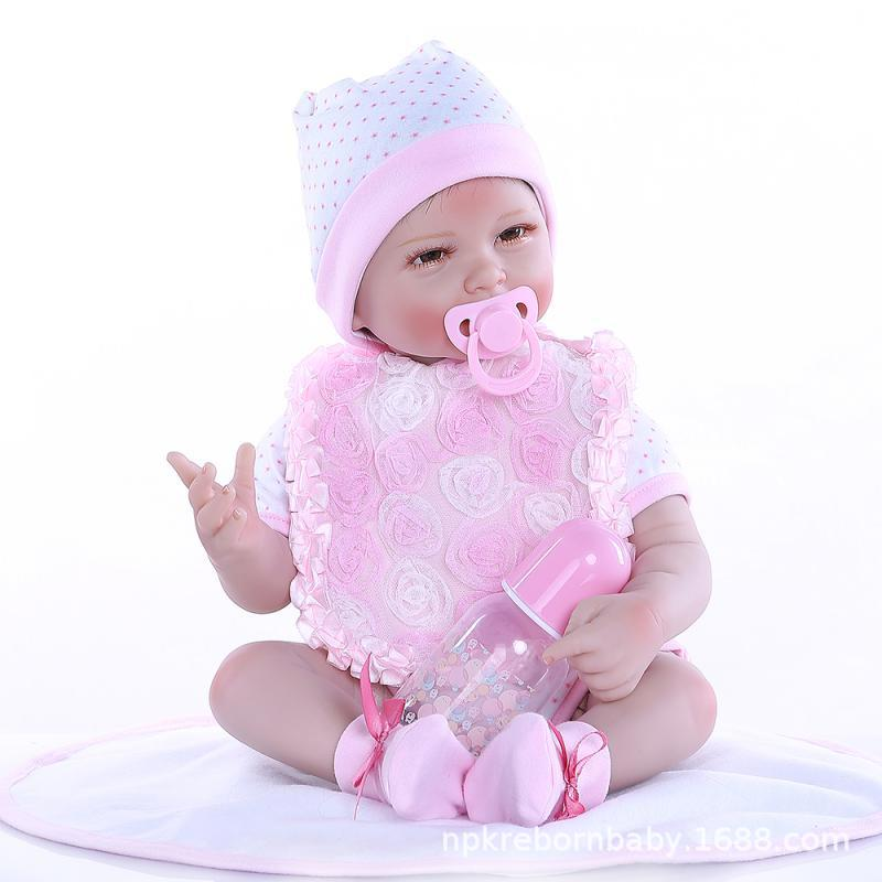 NPK New Style Four Pieces Teeth Model Cute Baby New Style Cloth Body Doll Send Children Gift