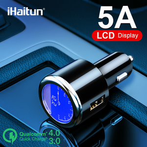 iHaitun Luxury LCD 5A USB Car