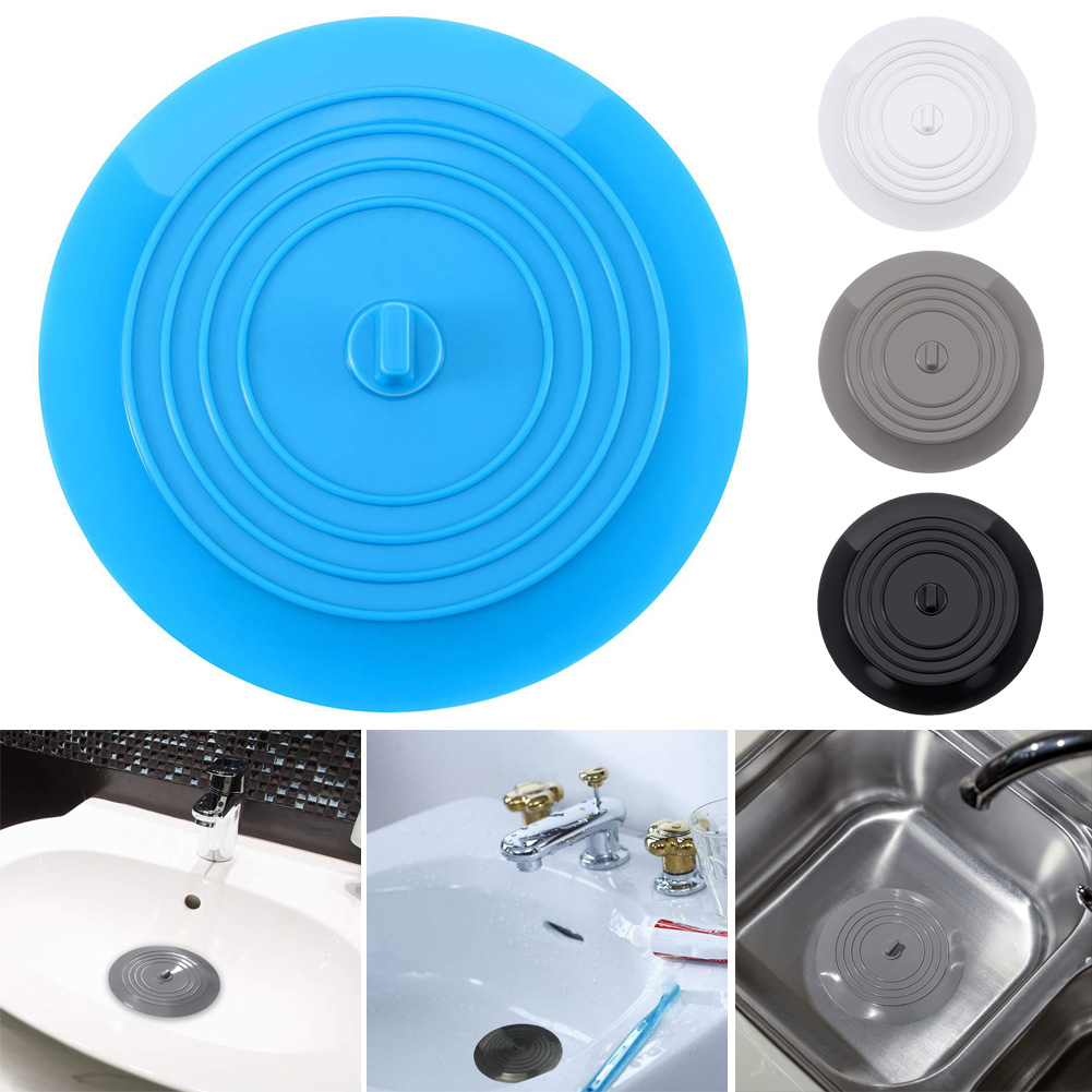 Bathroom Floor Drain Stopper Rubber Circle Silicone Kitchen Sink Strainer n