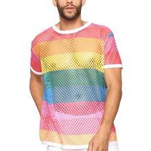 Summer Trend Mens Sport Running  T-shirt Mesh Round Neck Jersey Short-sleeved Thin Top Outdoor Casual Fitness Shirt