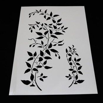 1pc Stencils Openwork Vine Painting Template Embossing Bullet Journal Stencils Accessories For Scrapbooking Stencil Reusable 1pc stencils bullet journal gthrush bird painting template diy embossing stencils accessories for scrapbooking stencil reusable