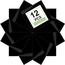 Теплопроводная виниловая HTV для футболок 12x12 дюймов 12 предварительно вырезанных листов(черный